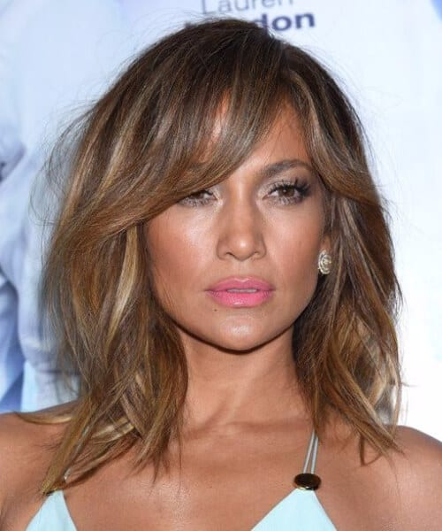 jennifer lopez short hair with bangs