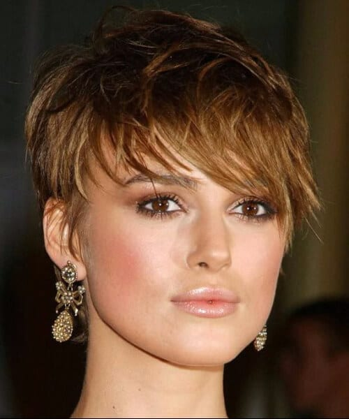 keira short hair with bangs