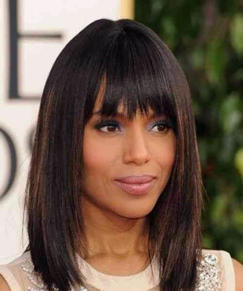 kerry washington short hair with bangs