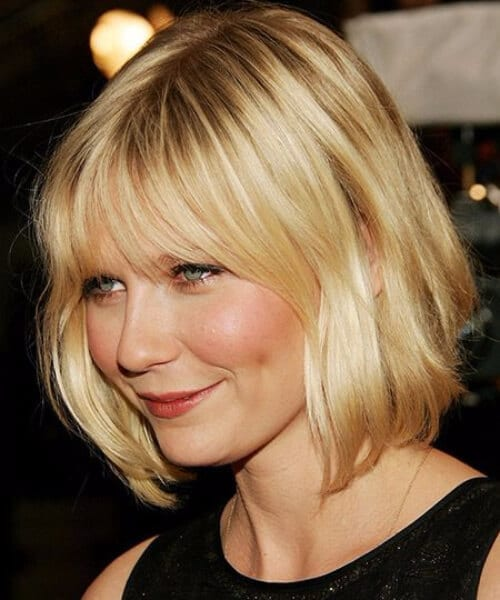 kirsten dunst short hair with bangs