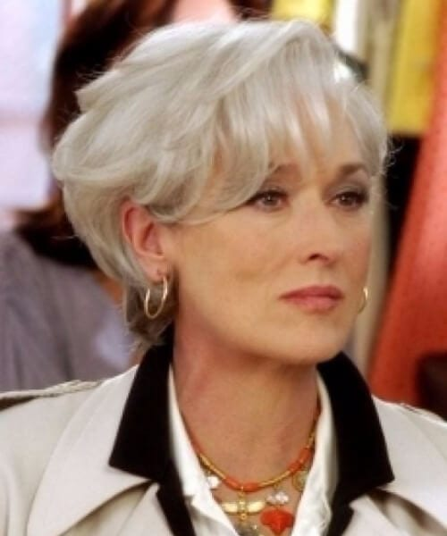 meryl streep short hair with bangs