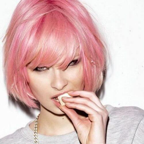 pink inverted bob