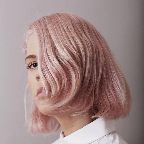 pink pastel inverted bob