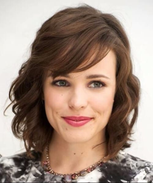 rachel mcadams short hair with bangs