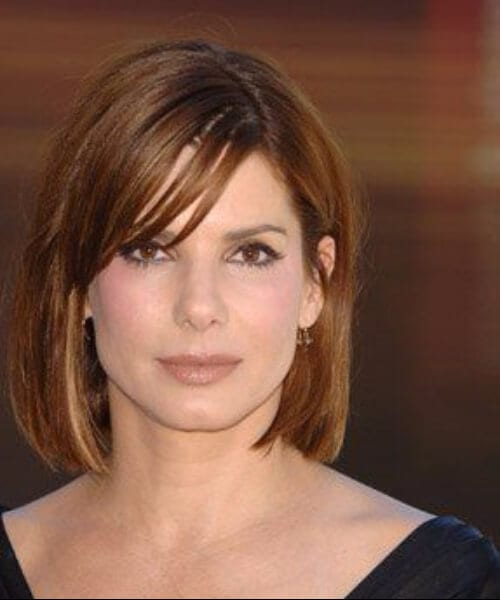 sandra bullock short hair with bangs