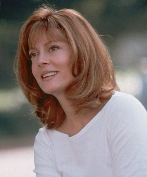 susan sarandon short hair with bangs
