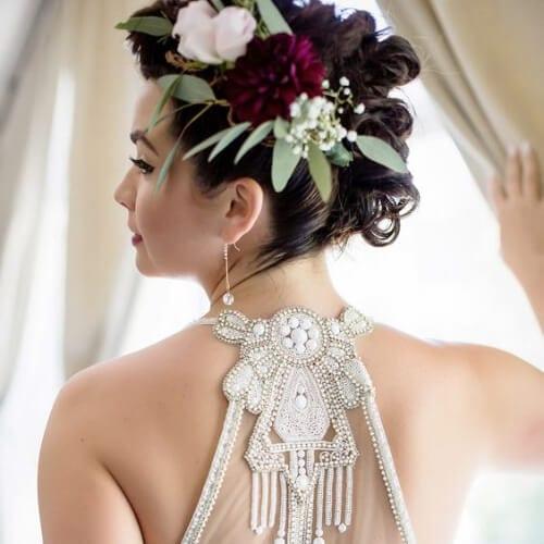 Bride's Braided Mohawk