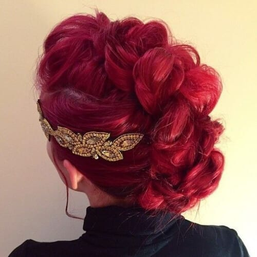Cherry Red Braided Mohawk