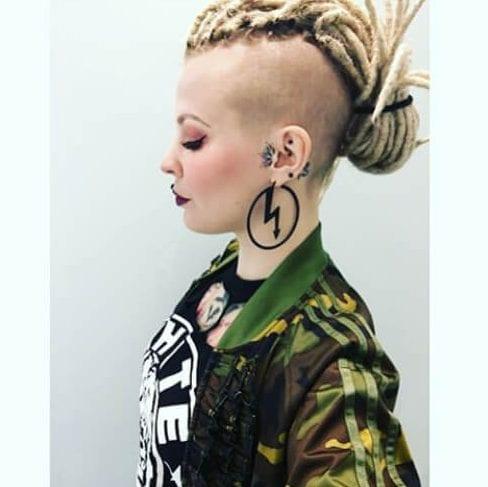 bald fade braided mohawk