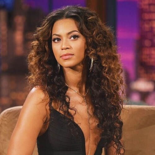 beyonce long curly hairstyles
