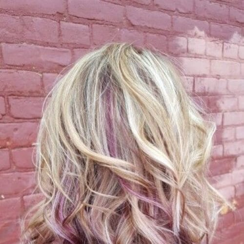 blonde orchid peekabo highlights