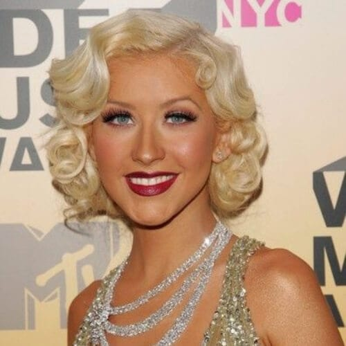 christina aguilera prom hairsyles for short hair