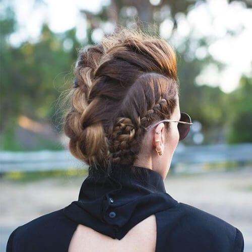 elegant braided mohawk