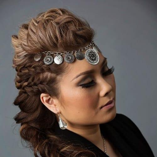 hair accessory braided mohawk