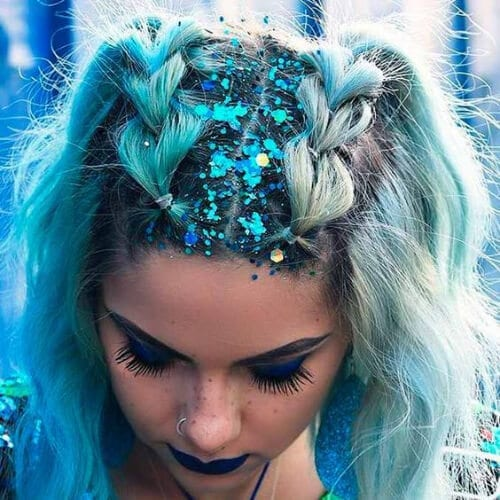 hair glitter prom hairstyles for short hair