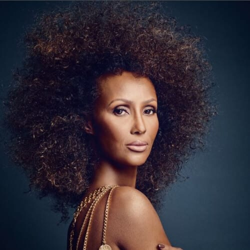 iman long curly hairstyles