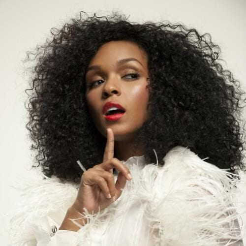 janelle monae long curly hairstyles