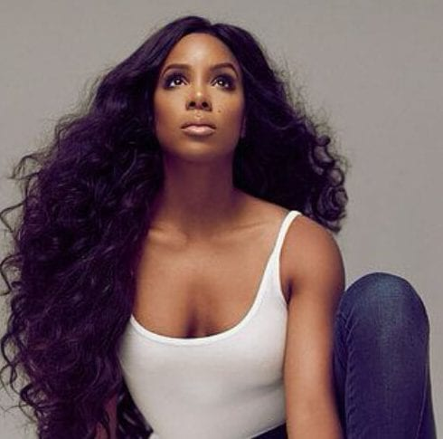 kelly rowland long curly hairstyles