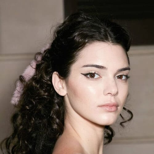 kendall jenner long curly hairstyles