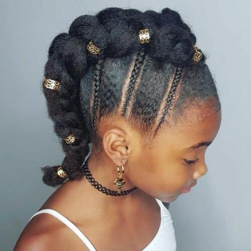little girl braided mohawk