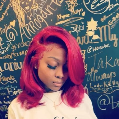 marsala bob hairstyles for black women