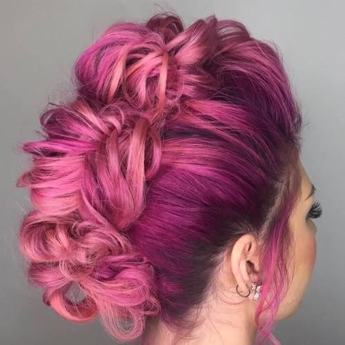 orchid braided mohawk
