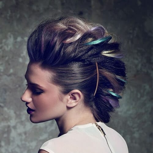 peacock braided mohawk