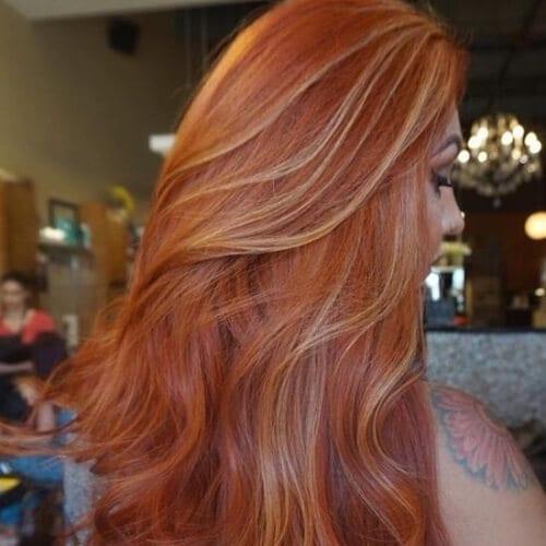 pumpkin copper peekaboo highlights