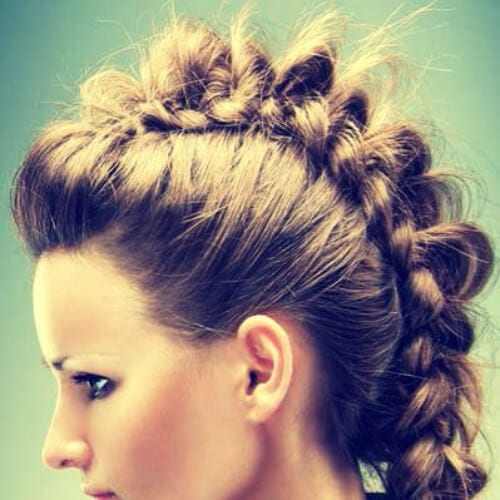 simple braided mohawk