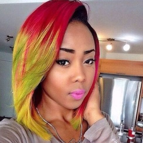 tropical bob hairstyles for black women