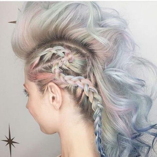 unicorn braided mohawk