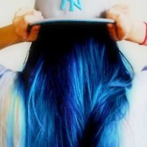 black and blue hairstyles for straight hair
