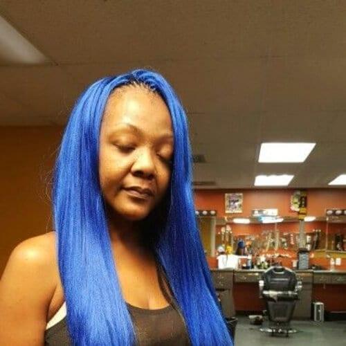 blue tree braids