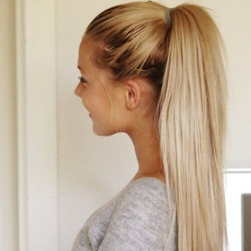 casual ponytail hairstyles for straight hair