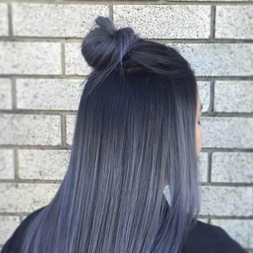 dark gray hairstyles for straight hair