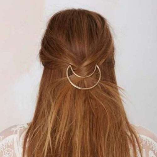 half moon bobby pin hairstyles for straight hair