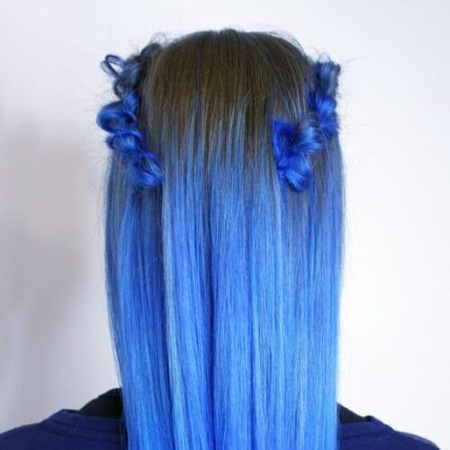 indigo hairstyles for straight hair