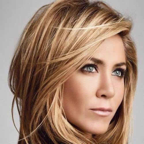 jennifer aniston honey brown hair