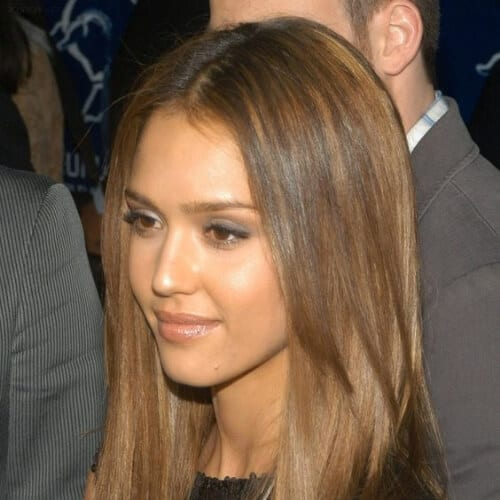 jessica alba honey brown hair