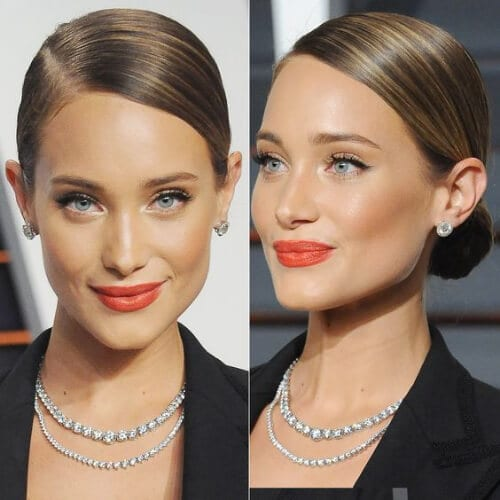 low chignon hairstyles for straight hair
