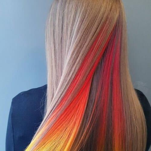 peekaboo hairstyles for straight hair