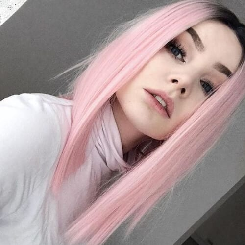 pink hairstyles for straight hairpink hairstyles for straight hair