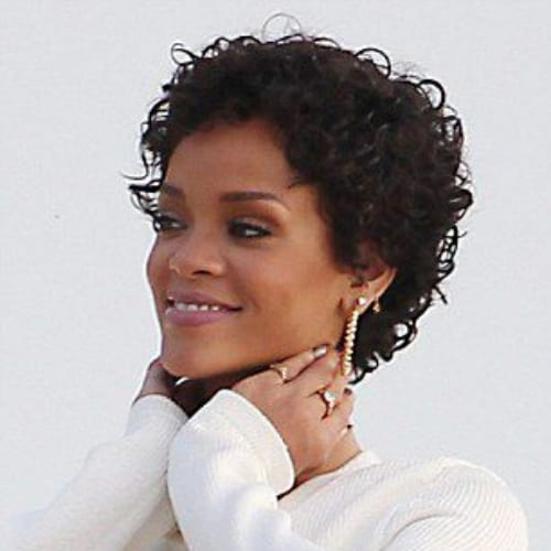 rihanna curly pixie cut