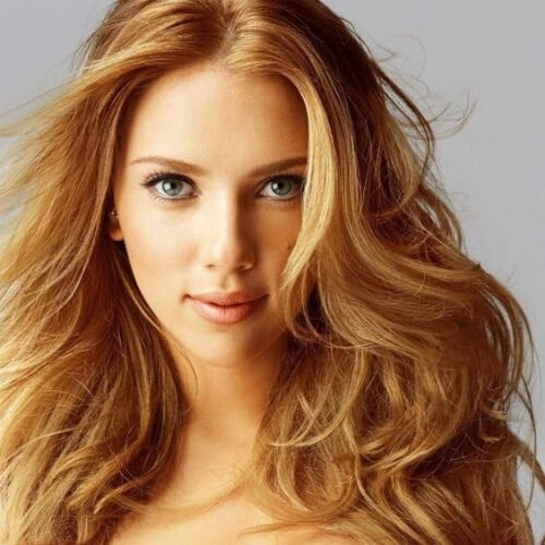 scarlet johansson honey brown hair