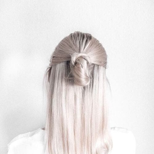 white silver hairstyles for straight hair