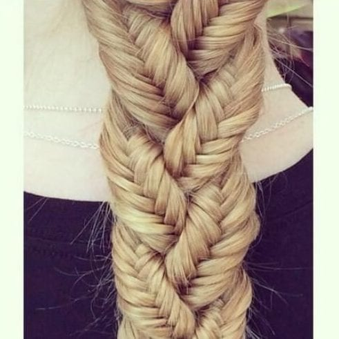 Theee French braids braided braid hairstyles for long hair