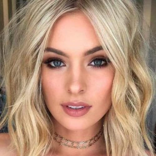 beach waves bob blonde hairstyles