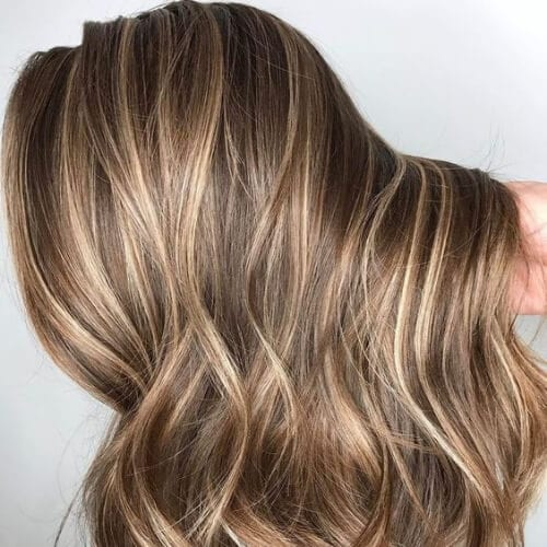 blonde on brown highlights and lowlights