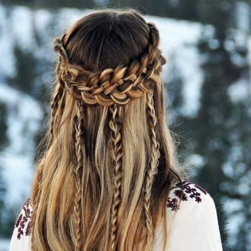 bohemian braid hairstyles for long hair