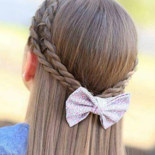 bow braid hairstyles for long hair